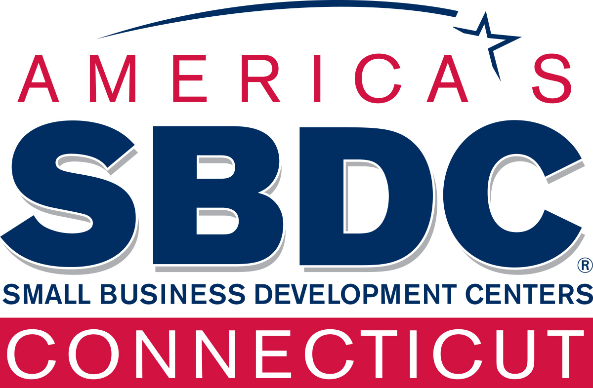 America's Small Business Development Centers in Connecticut red and blue logo