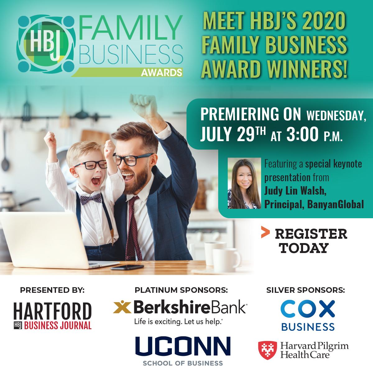 Hartford Business Journal 2020 Family Business Awards