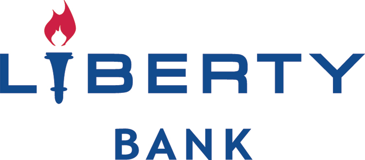 Liberty Bank blue and red logo
